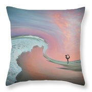 Magical Beach Sunset Throw Pillow by Beth Sawickie