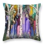 Magical Birch Throw Pillow