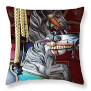 Magical Carousel Throw Pillow
