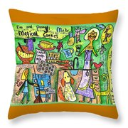 Magical Cookies A Collaboration With Eva Miller Throw Pillow