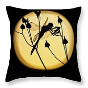 Magical Dragonfly Throw Pillow