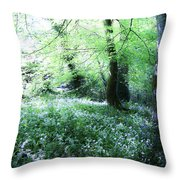 Magical Forest At Blarney Castle Ireland Throw Pillow