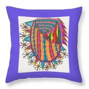 Magical Forest Land Throw Pillow
