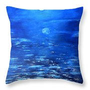 Magical Full Moon Throw Pillow