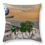 Magical Island Throw Pillow