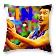 Magical Jeremy Lin Throw Pillow