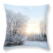 Magical March Morning Throw Pillow
