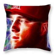 Magical Mike Trout Throw Pillow