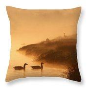 Magical Misty  Morning Throw Pillow