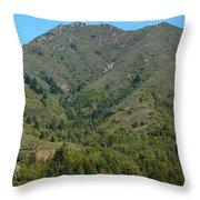 Magical Mountain Tamalpais Throw Pillow