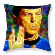 Magical Mr. Spock Throw Pillow