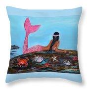 Magical Mystic Mermaid Throw Pillow