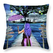 Magical New Orleans Throw Pillow
