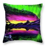 Magical Night Meditation Throw Pillow