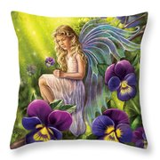 Magical Pansies Throw Pillow