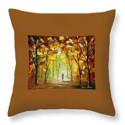 Magical Park Throw Pillow by Leonid Afremov