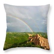 Magical Rainbow Panorama Throw Pillow