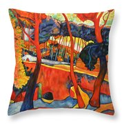Magical Redwoods And Adobe Walls Throw Pillow