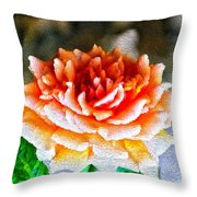 Magical Rose Throw Pillow