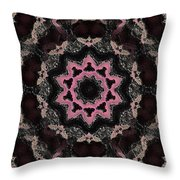 Magical Solar Flight In Pink Throw Pillow