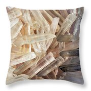 Magical Sparkly Crystals Throw Pillow