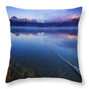Magical Sunrise Along Sawtooth Mountain Range Stanley Idaho Throw Pillow