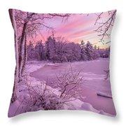 Magical Sunset After Snow Storm 1 Throw Pillow