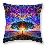 Magical Tree And Sun 2 Throw Pillow