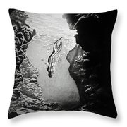 Magical Underwater Cave Throw Pillow