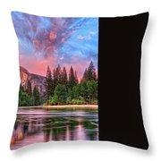 Magical Yosemite Throw Pillow