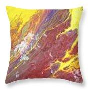 Magma Flow Throw Pillow