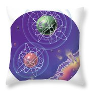 Magnesium And Potassium Ions Throw Pillow
