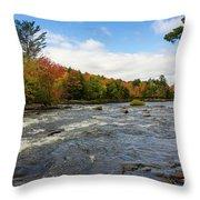 Magnetawan River In Fall Throw Pillow
