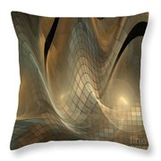 Magnetic Sand Fields Throw Pillow