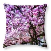 Magnificant Magnolias Throw Pillow