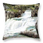Magnificence Of Shoshone Falls Throw Pillow