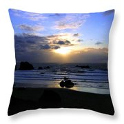 Magnificent Bandon Sunset Throw Pillow