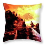 Magnificent Church Of Biblian IIi Throw Pillow
