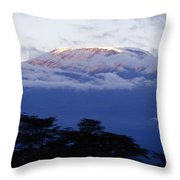 Magnificent Mount Kilimanjaro Throw Pillow