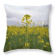 Magnificent Mustard Throw Pillow