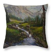 Magnificent Rockies Throw Pillow