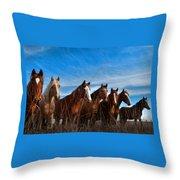 Magnificent Seven Throw Pillow