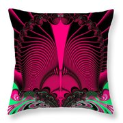 Magnificent Sunrise Reflections Fractal 119 Throw Pillow