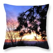 Magnificent Winter Sky Throw Pillow