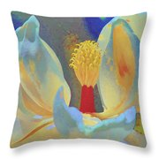 Magnolia Abstract Throw Pillow
