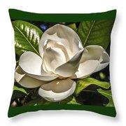 Magnolia Blossom 4 Throw Pillow