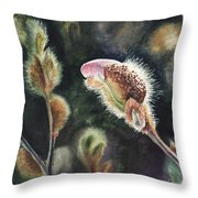 Magnolia Bud By Irina Sztukowski  Throw Pillow