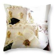 Magnolia Cake Three Throw Pillow