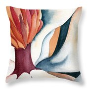 Magnolia Close-up I Throw Pillow
