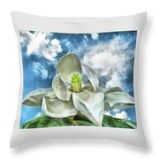 Magnolia Dreams Throw Pillow